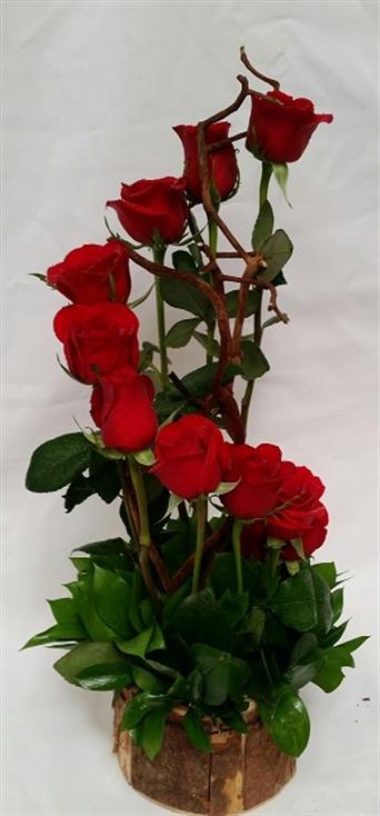 Arreglo 75 Con 12 Rosas Rojas Naturales En Escalera From Flores